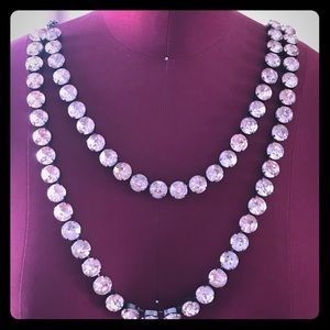 Two Layer Pink Diamond Necklace